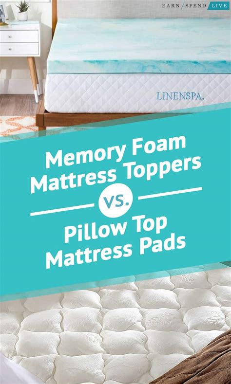 Which Is Better Memory Foam Or Pillow Top Mattress - memory foam mattress toppers vs pillow top mattress pads