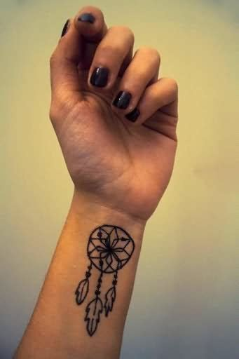 dream catcher tattoo wrist catcher on wrist