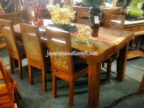 Kursi Meja Makan Koin Kayu Trembesi Solid terbaru meja kursi makan koin jati 6 kursi kualitas terbaik
