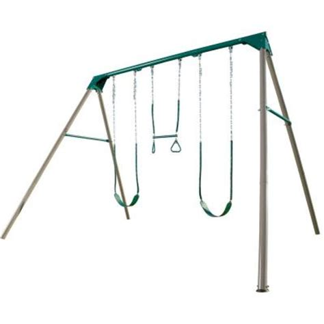 home depot metal swing sets lifetime a frame deluxe swing set 290038 the home depot