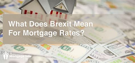 what does mortgaging a house mean what does brexit mean for mortgage rates