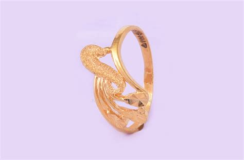 22k simple gold ring design for daily use south india jewels