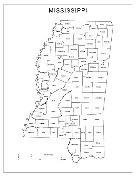 mississippi county map mississippi labeled map