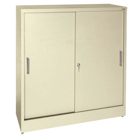 Sliding Cabinet Doors Home Depot by Sandusky 42 In H X 36 In W X 18 In D Freestanding Steel