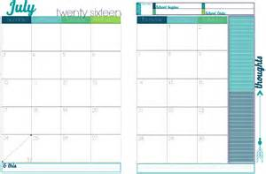 2017 Monthly Calendar Pages Turquoise 2016 To 2017 Academic Year Calendar