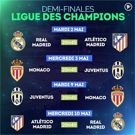 Calendrier De La Ligue 2 Le Calendrier Des 1 2 Finales De La Ligue Des Chions