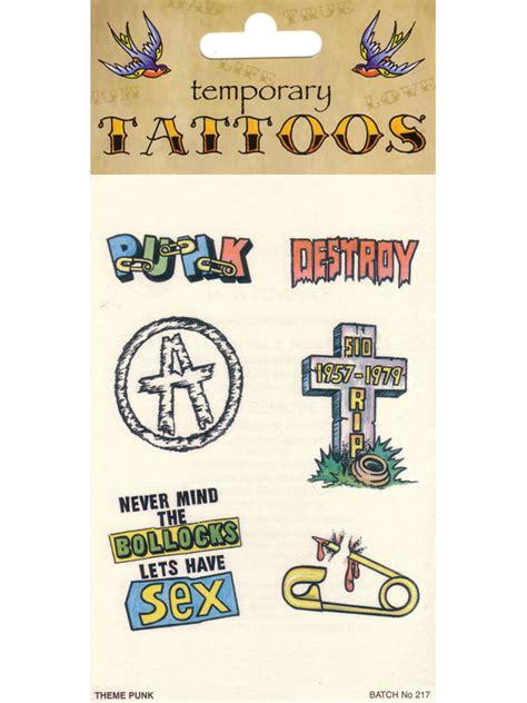 developgo 80 html themes pack pack of 6 joke temporary tattoos punk 1980s 80s theme