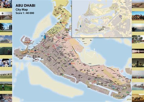 abu dhabi on map maps of abu dhabi detailed map of abu dhabi city in