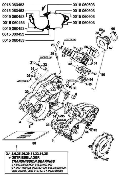 prise cpl 96 ktm 54630052600 reed valve cpl 250 300 360 96