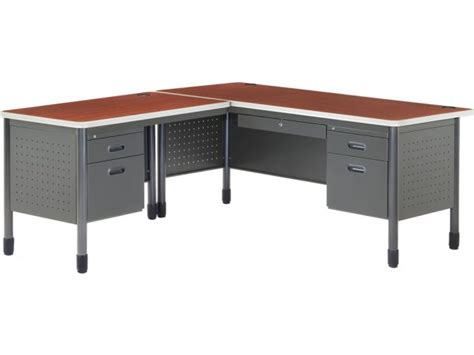 Mesa L Shaped Desk With Left Return Msa 6729l Office Desks L Shaped Desk With Left Return