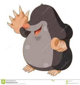 Are Moles Blind Cartoon Smiling Mole Stock Vector Image 68961470
