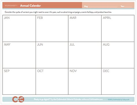 annual marketing calendar template free editorial calendar template