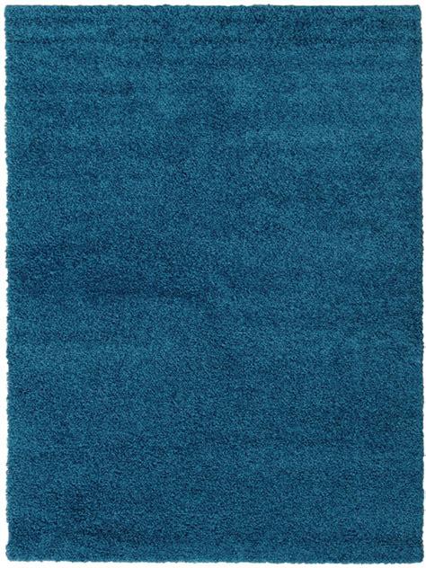 bettvorleger blau benuta hochflor teppich swirls blau 60001044 uni