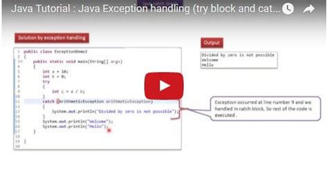 tutorial java try catch java ee java tutorial java exception handling try