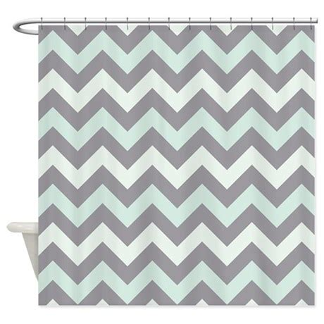 zig zag pattern shower curtain sea foam zigzag pattern shower curtain by zandiepantshomedecor