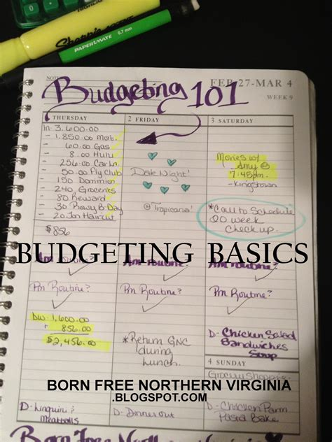Make Budget Born Free How To Create A Budget Easy Step By Step