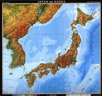 printable map  physical maps  japan physical feature