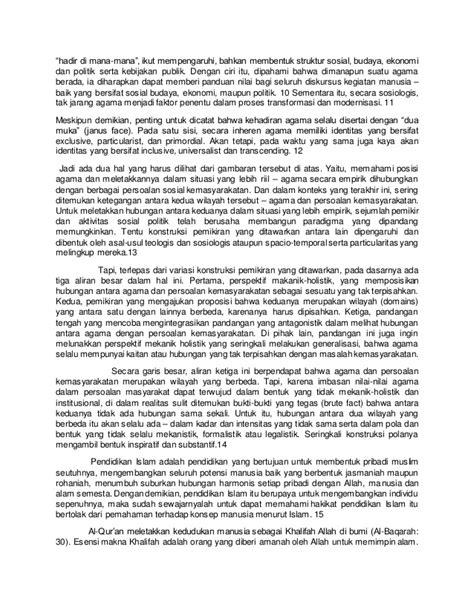 Kapita Selekta Politik Islam kapita selekta pendidikan peran pendidikan islam dalam era globalis