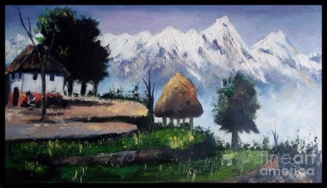 House Plans For Sale Online scenic view of nepal painting by sushant adiga