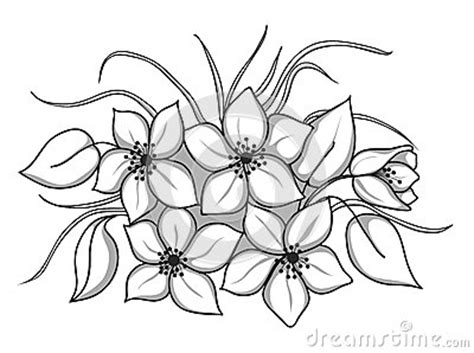 black and white flower bouquet clip art bunch of black and white flower clipart clipart suggest