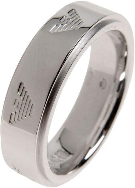 emporio armani ring in silver for lyst