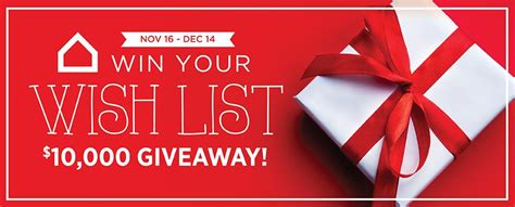 ashley homestore win your wishlist giveaway win wish list prizes valued at 5 000 - Wishlist Giveaway