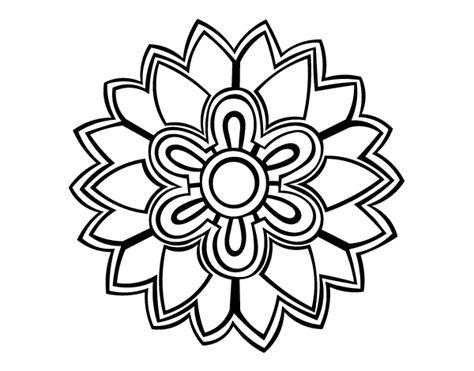 imagenes de flores para dibujar que sean faciles dibujo de m 225 ndala con forma de flor weiss para colorear