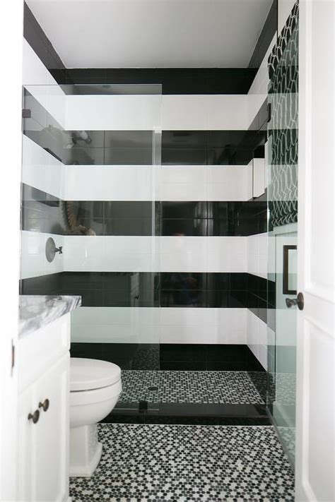 striped shower surround contemporary bathroom ici dulux swiss white sarah richardson design