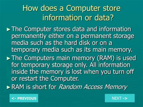 does ram store data ppt what are the two parts of a computer