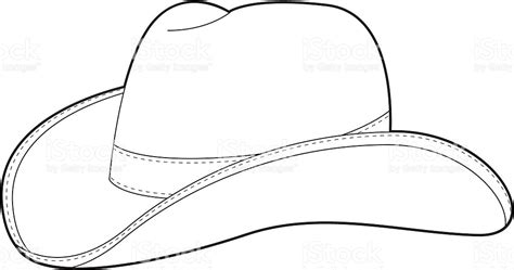 cowboy hat template west cowboy hat template stock vector 165592937