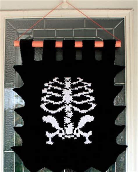knitted skeleton ravelry skeleton banner pattern by sugar n