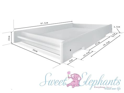 Change Table Dimensions New Universal White Baby Cot Side Rail Change Table Free Bonus Mattress Ebay