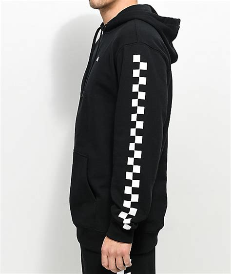 Check Sweatshirt vans check black white hoodie zumiez