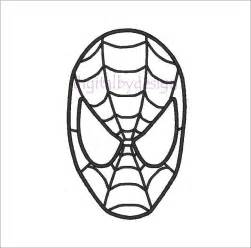 Printable Pattern For Spiderman Mask Mike Folkerth  King Of Simple sketch template