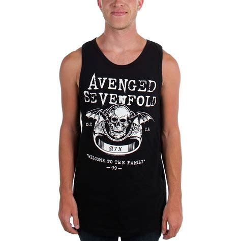 avenged sevenfold mens welcome to the family tank top