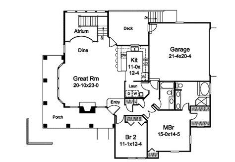 atrium ranch floor plans marina bay sunbelt atrium home plan 007d 0244 house