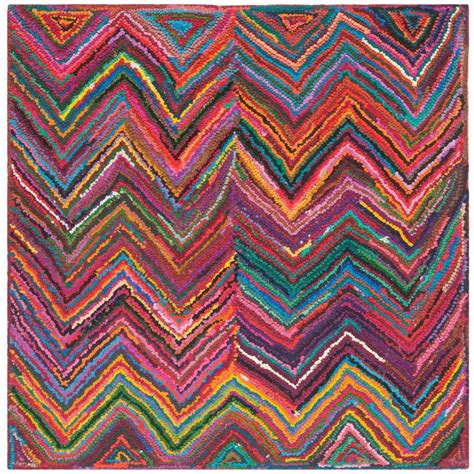 Safavieh Nantucket Pink Multi 6 Ft X 6 Ft Square Area 6 X 6 Area Rugs