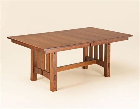 mission dining room table aspen mission trestle table
