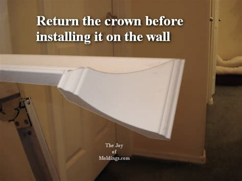 How To Cut Crown Molding Outside Corners For Cabinets by 5how To Cut Crown Molding Returns Hallway The Of