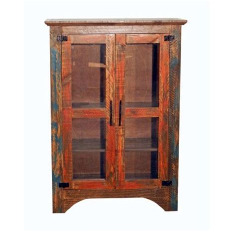 Rustic Pantry Cabinet by Rustic Small Pie Chest Pantry Cabinet Orange Turquoise Rubbed Finish Western Ebay