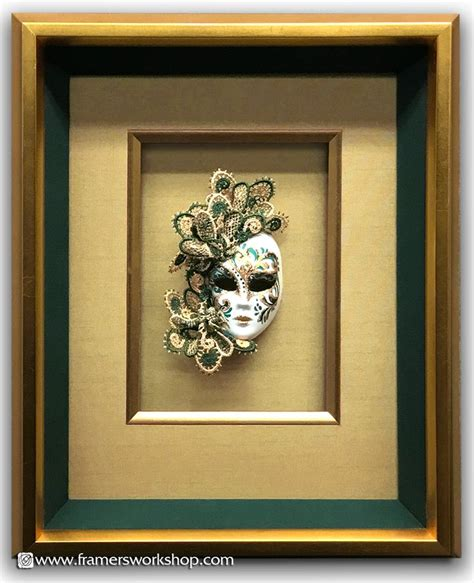 Masker Per Box porcelain doll s mask in a shadow box frame with
