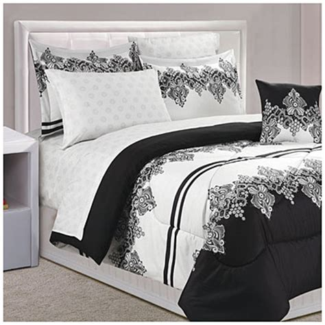 big lots bed in a bag dan river 174 black white lace queen 8 piece bed in a bag 174 big lots