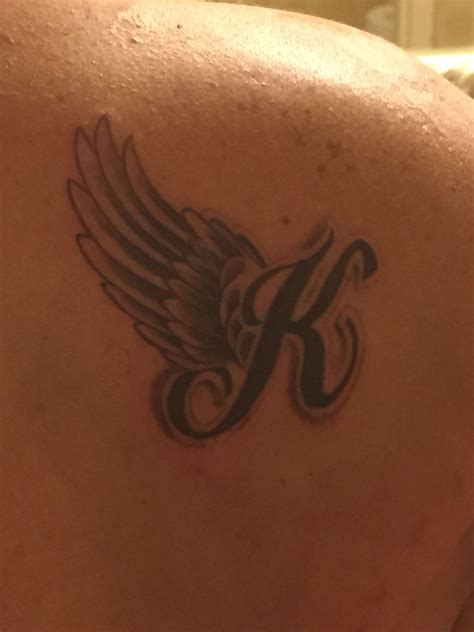 angel wings wrist tattoo wing memorial place on back of shoulder i