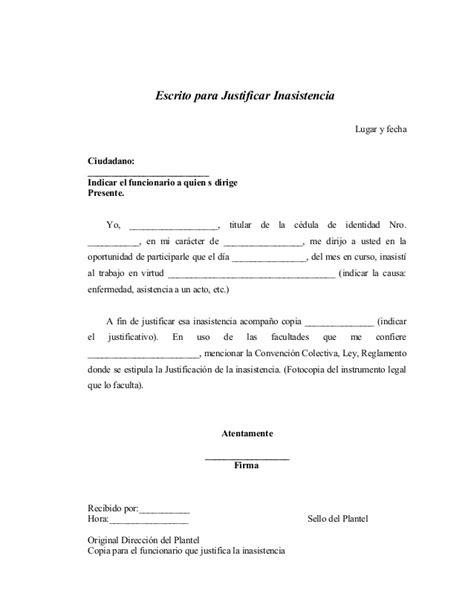 modelo de carta para justificar inasistencia mensajes actas de procedimientos administrativos