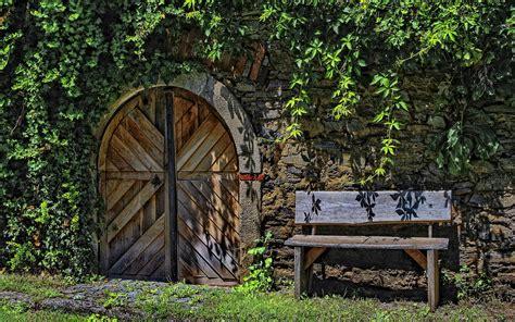 old door bench old bench door hd desktop wallpapers 4k hd