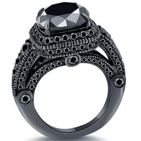 7 24 carat black engagement ring 14k black
