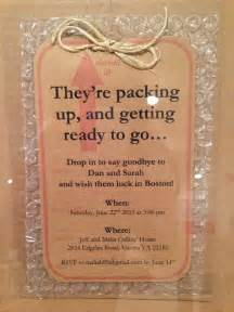 going away invitation ideas the runners and wraps