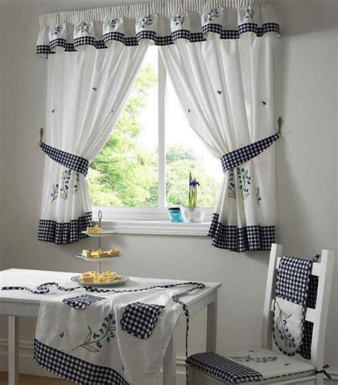modern kitchen curtain ideas white curtains 187 black and white curtains for kitchen