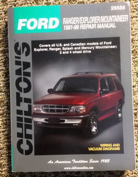 ford explorer mercury mountaineer shop manual chilton service repair ebay sell chilton 1991 99 ford ranger explorer mountaineer 26688 repair manual motorcycle in