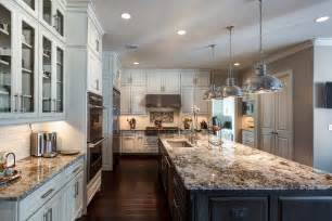 lennon granite kitchen traditional with large kitchen island dark wood floor